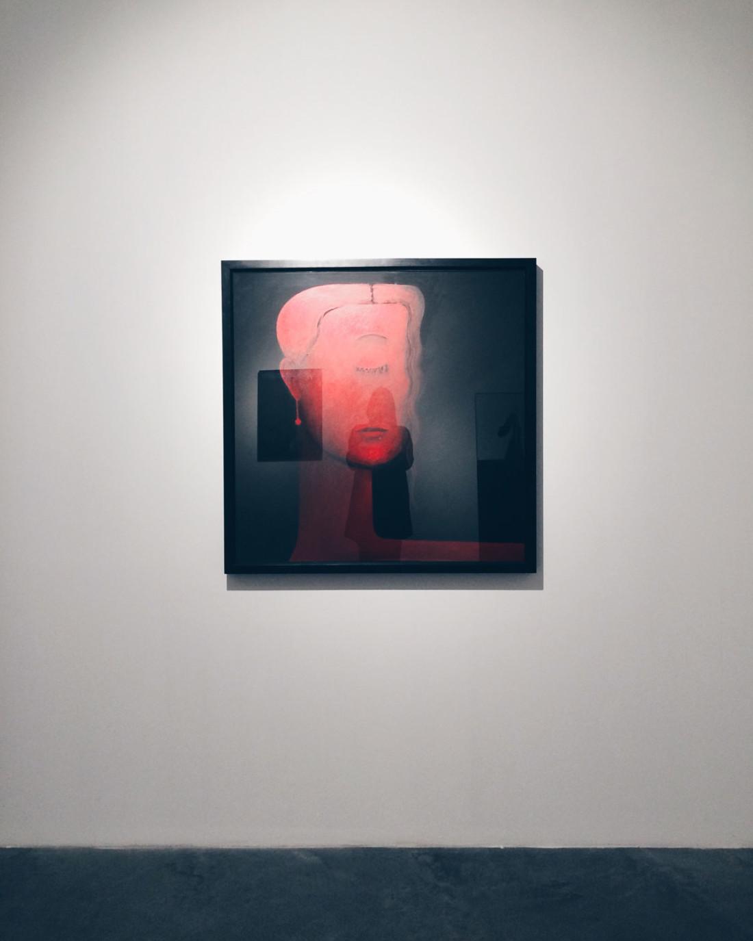 Gino De Dominicis, Ritratto d'Alessandra, 1997-1998 Olio su tela | oil on canvas 100x100 Collezione Privata | Private Collection Modena