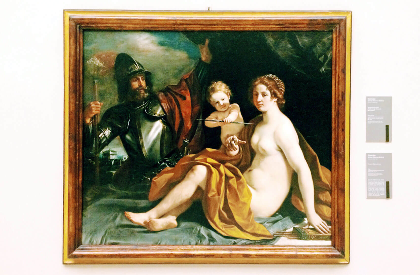 "Estense Gallery in Modena - ""Mars, Venus and Cupid"" by Il Guercino"