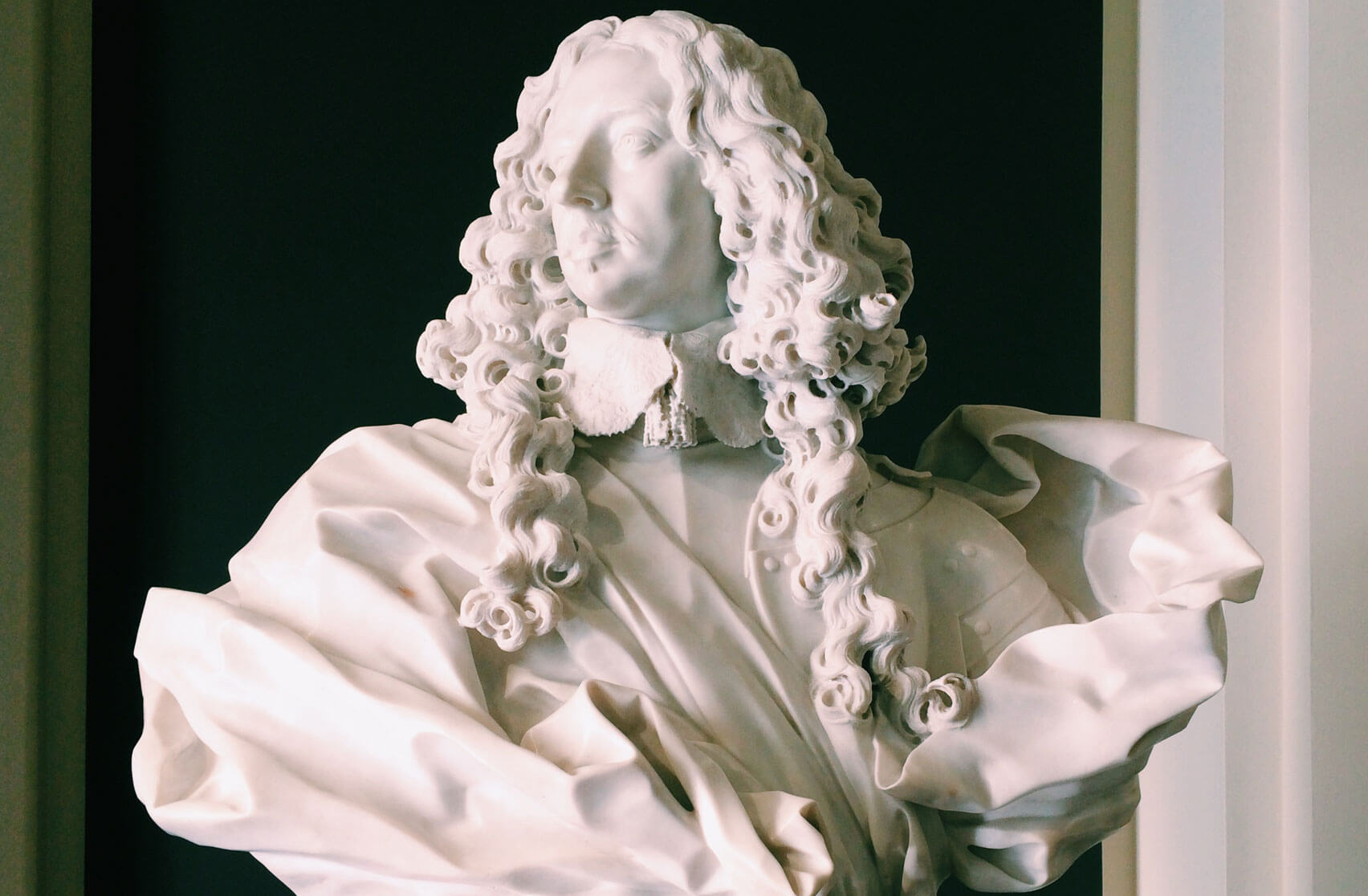 Estense Gallery in Modena - the beautiful marble bust of Francesco I d'Este by Bernini