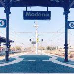 On the platform at the city station Modena stazione dihellip